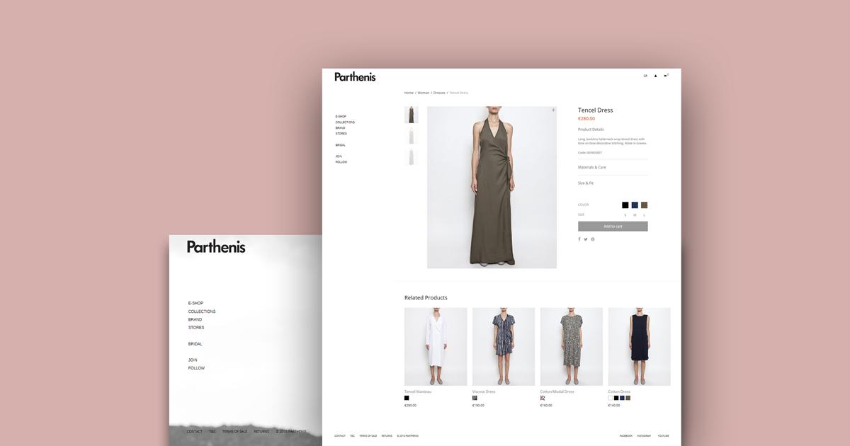 Υποστήριξη E-Shop Ρούχων για το Fashion Brand Parthenis a0287695686