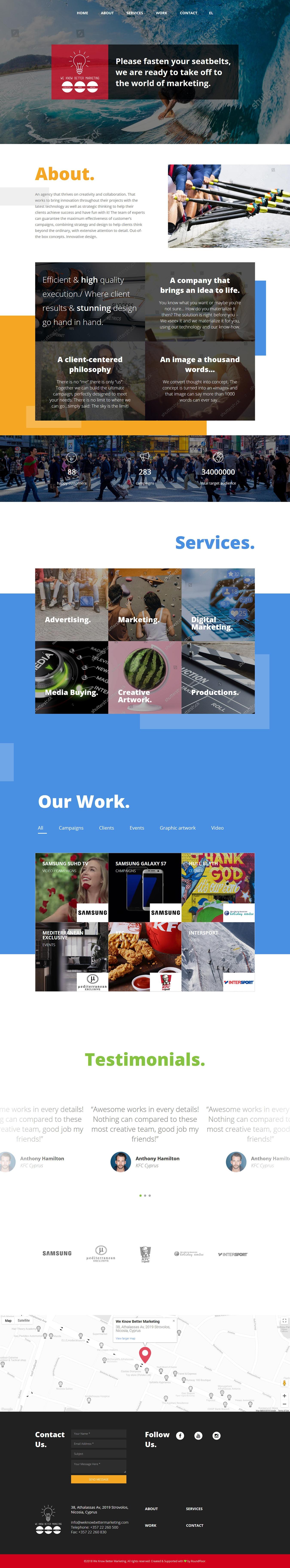 Κατασκευή ιστοσελίδας digital media agency - διαφημιστικής εταιρείας για την We Know Better Marketing