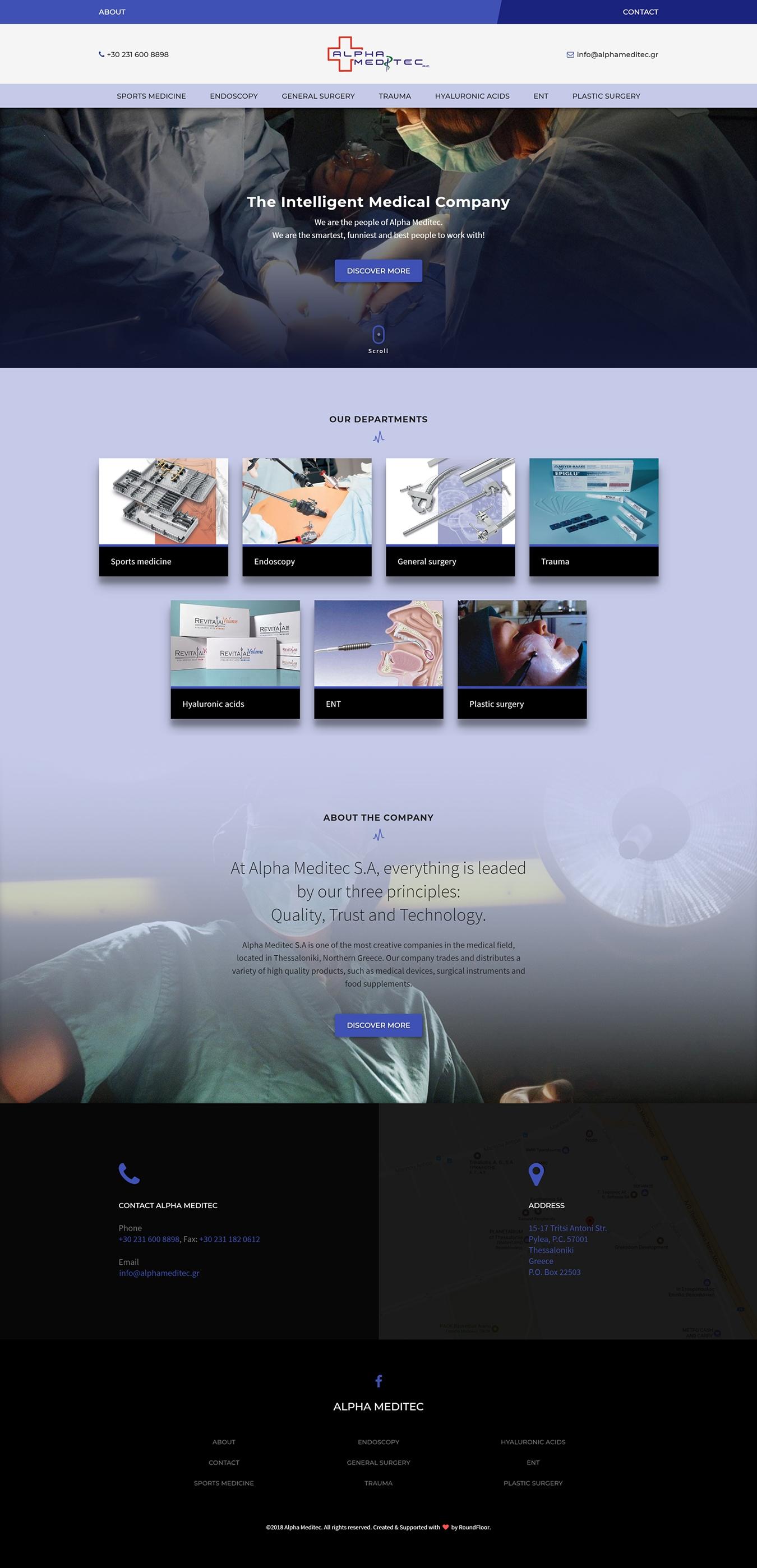 Κατασκευή ιστοσελίδας εταιρείας ιατρικού εξοπλισμού για την Alpha Meditec
